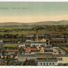 Targoviste Pulberaria Laculete (rara) - Carte Postala Muntenia 1904-1918, Circulata, Fotografie