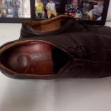 PANTOFI INTEGRAL DIN PIELE MASURA 41 BARBATI CONFORTABILI NEGRI - Pantofi barbat, Culoare: Negru