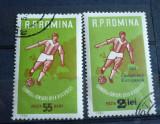 ROMANIA 1962 – FOTBAL, timbru stampilat cu si fara SUPRATIPAR, AM59