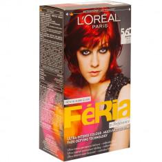 Vopsea de par L'Oreal Preference rosu intens Feria Pure Red 5.60, 95979, Roscat, Permanenta
