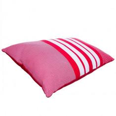 Perna decorativa dreptunghiulara Pure Cotton, 30x50cm, Rosu/Alb, 5145RD/WH - Fata de perna