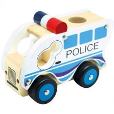 Masinuta Bino de Politie din Lemn