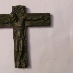 PVM - Crucifix SPLENDID INEDIT mai vechi detalii minunate bronz