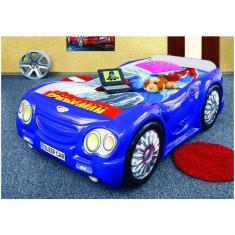 Pat masina copii Sleep Car - Plastiko - Albastru - Pat tematic pentru copii