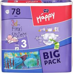 Scutece Happy 3 Midi (5-9 Kg) 78 Buc - Scutece unica folosinta copii