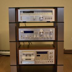 Linie Pioneer CTF 1250, SA 9800, TX 9800, vintage lemn