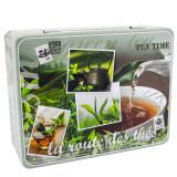 Cutie metalica petru ceai, 6 compartimente, capac, design by Dora Papis, 20.5 X 16 X 7 cm, multicolora, 84848 - Caserola