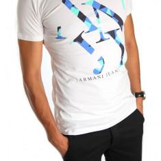 ● Tricou ARMANI ● alb ● Pentru barbati ●barbati ● 4779 - Tricou barbati, Marime: XL, Culoare: Din imagine, Maneca scurta