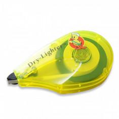 Banda corectoare, 5 x 5 mm, design ergonomic, carcasa galbena din plastic - Radiera si ascutitoare
