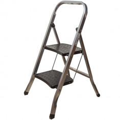 Scara plianta Super Master, aluminiu, 2 trepte, 80 cm, 100 kg, striatii anti-alunecare, picioare aderente - Harta Italiei