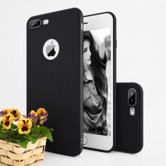 Husa de protectie pentru iPhone 7 Plus din TPU, 0.9mm grosime, protectie camera - Husa Telefon, Negru