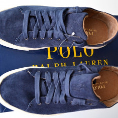 Adidasi Ralph Lauren din piele, barbati, 100% AUTENTICI - Adidasi barbati Ralph Lauren, Marime: 42.5, Culoare: Albastru