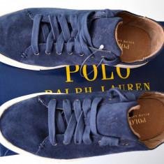 Tenisi /tenesi Polo Ralph Lauren din piele, barbati, 100% AUTENTICI - Tenisi barbati Polo By Ralph Lauren, Marime: 42.5, Culoare: Albastru