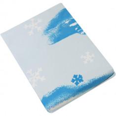 Set 3 piese lenjerie pat pentru copii Winterengel, 1 persoana, Alb/Albastru - Lenjerie pat copii