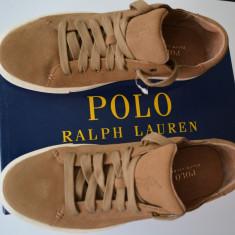 Tenesi / tenisi Polo Ralph Lauren, din piele, Originali, noi in cutie - Tenisi barbati Polo By Ralph Lauren, Marime: 43, Culoare: Din imagine