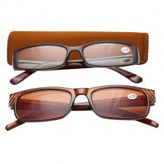Ochelari de vedere cu dioptrii + 2.50 TRI International, rama maro cu insertii pietricele, 2 bucati, 92944BR2.50