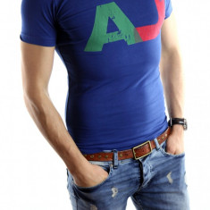 ● Tricou Armani ● albastru● Pentru barbati ●barbati ● 4204 - Tricou barbati, Marime: L, XL, XXL, Culoare: Din imagine, Maneca scurta