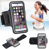 Armband husa brat mana telefon alergat sala pt iPhone 8 Plus / Samsung S8 Plus, iPhone 7/8 Plus, Negru