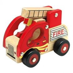 Masinuta Bino de Pompieri din Lemn