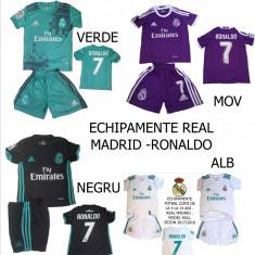 ECHIPAMENTE FOTBAL REAL MADRID-RONALDO 2018, COPII 4-14 ANI - Set echipament fotbal Adidas, Marime: XXL, XL, L, M, S