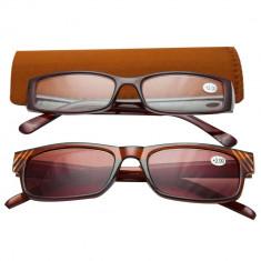 Ochelari de vedere cu dioptrii + 2.00 TRI International, rama maro cu insertii pietricele, 2 bucati, 85832BR2.00