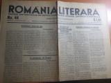 Ziarul romania literara 17 decembrie 1932-director liviu rebreranu,eugen ionescu