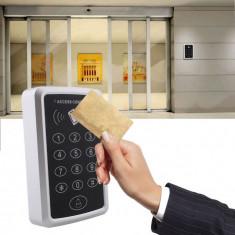 Acces control RFID 12V 220v releu tastatura si 5 taguri casa usa poarta garaj - Interfon