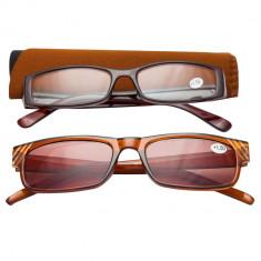 Ochelari de vedere cu dioptrii + 1.50 TRI International, rama maro cu insertii pietricele, 2 bucati, 85824BR1.50