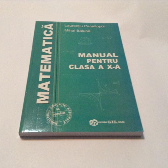 MANUAL PENTRU CLASA A X-A LAURENTIU PANAITOPOL,M.BALUNA**p8