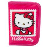 Penar echipat Hello Kitty, 1 compartiment cu fermoar, 16 piese, roz, 16512PK - Ghiozdan