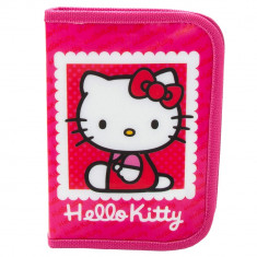 Penar echipat Hello Kitty, 1 compartiment cu fermoar, 16 piese, roz, 16512PK
