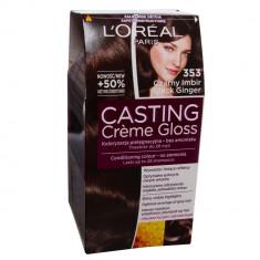 Vopsea de par L'Oreal Paris Casting Crème Gloss 353 Black Ginger, 51647, Permanenta