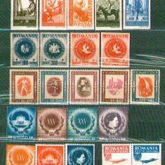 Romania 1946 - serii neuzate, MNH LP 193, 197, 200, 202, 204 - Timbre Romania, Nestampilat