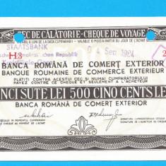 Bon 500 lei Cec de Calatorie Cheque de Voyage 2 - Bancnota romaneasca