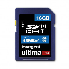 Card Integral UltimaPro SDHC 16GB Class 10 UHS-I - Card memorie foto