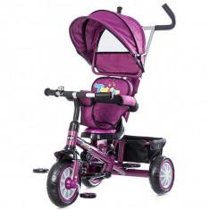 Tricicleta cu copertina si sezut reversibil Chipolino Twister purple 2015 - Tricicleta copii
