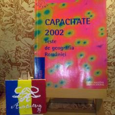 Gabriela Apostol - Capacitate 2002 Teste de geografia romaniei