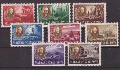 Ungaria 1947 Roosevelt, serie neuzata foto