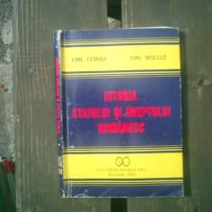 Istoria statului si dreptului romanesc -Emil Cernea si Emil Molcut - Carte Istoria dreptului