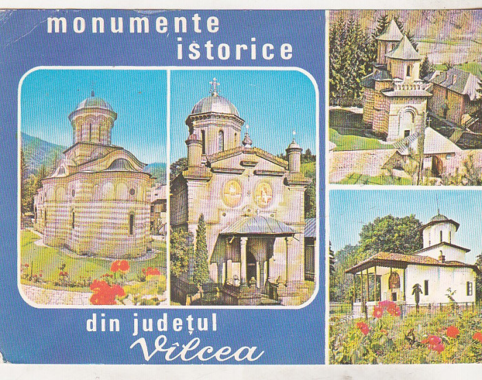 bnk cp Jud Valcea - Monumente istorice - necirculata - marca fixa foto mare