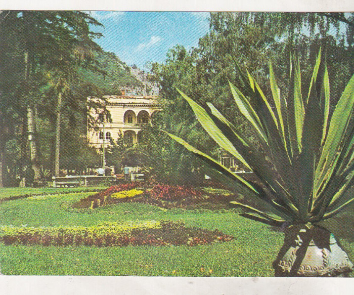 bnk cp Baile Herculane - Parcul - necirculata - marca fixa foto mare