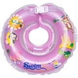 Colac de gat pentru bebelusi - SwimBee - Mov - Colac plaja