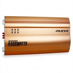 AUNA GOLDHAMMER, amplificator auto cu 4 canale, 4400W, auriu