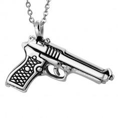 Pandantiv inox pistol