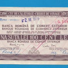 Bon 100 lei Cec de Calatorie Cheque de Voyage 9 - Bancnota romaneasca
