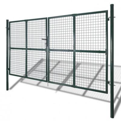 Poartă gard dublă din oțel acoperit cu pulbere foto