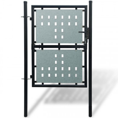 Poartă pentru gard simplă, negru, 100 x 250 cm foto
