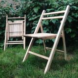 Scaun pliabil lemn masiv- stejar - Scaun gradina