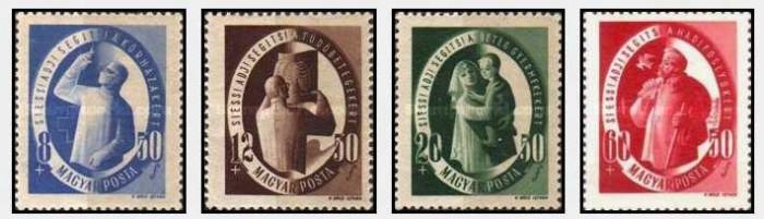 Ungaria 1947 Social Services serie neuzata foto mare