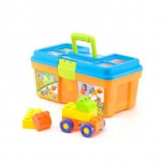 Jucarie Chipolino cuburi in cutie 50 piese - Vehicul